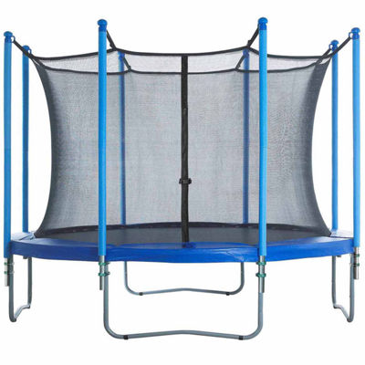 Upper Bounce Trampoline Enclosure Set- to fit 13 FT. Round Frames- for 4 or 8 W-Shaped Legs -Set Includes: Net- Poles & Hardware Only