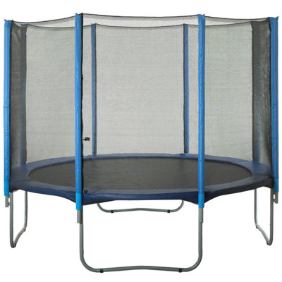 Upper Bounce Trampoline Replacement Net- Fits for14 FT. Round Frames- Using 8 Straight Poles- Installs Outside of Frame -NET ONLY