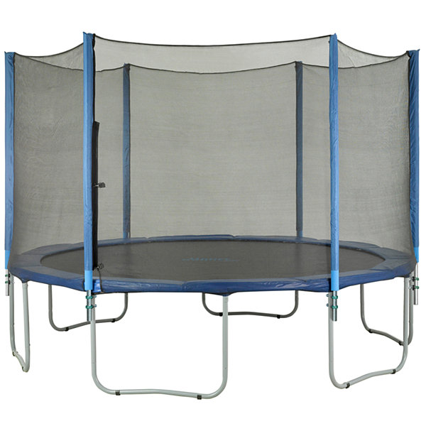 Upper Bounce Trampoline Enclosure Set- to fit 14 FT. Round Frames- for 3 or 6 W-Shaped Legs -Set Includes: Net- Poles & Hardware Only