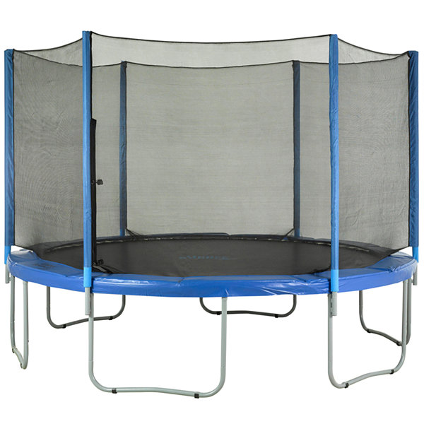Upper Bounce Trampoline Replacement Net- Fits for15 FT. Round Frames- Using 6 Straight Poles- Installs Outside of Frame -NET ONLY
