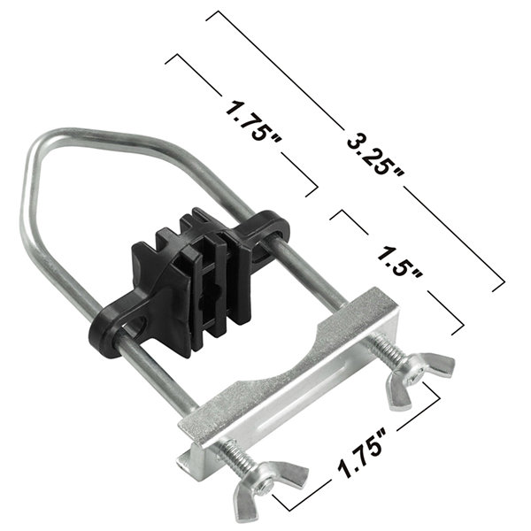 Upper Bounce Trampoline Enclosure Pole Connecter-Fits for poles measuring up to 1.5Inch diameter- and up to 1.75Inch diameter leg - set of 8
