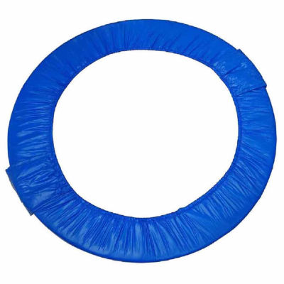 """Upper Bounce 44"""" Mini Round Foldable Replacement Trampoline Safety Pad (Spring Cover) for 6 Legs - Blue"""