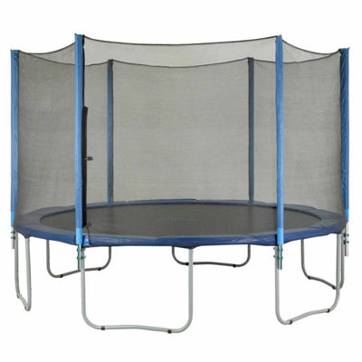 Upper Bounce Trampoline Enclosure Set- to fit 15 FT. Round Frames- for 4 or 8 W-Shaped Legs -Set Includes: Net- Poles & Hardware Only