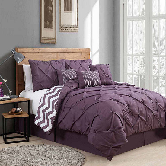 Avondale Manor Venice Pinch Pleat 7Pc Comforter Set
