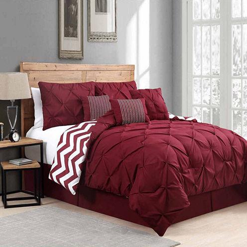 Avondale Manor Venice Pinch Pleat 7Pc Comforter Set