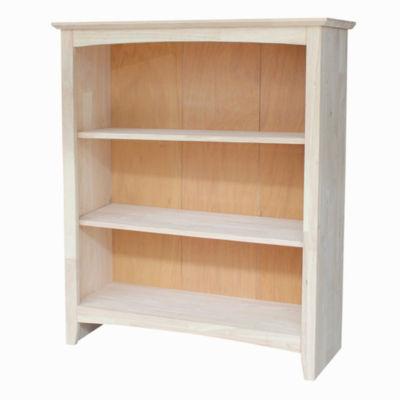 Ready To Finish Shaker 3-Shelf Bookshelf