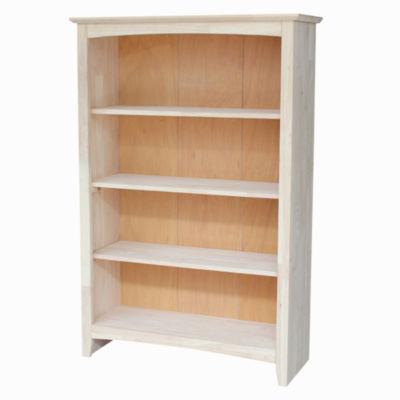 Ready To Finish Shaker 4-Shelf Bookshelf