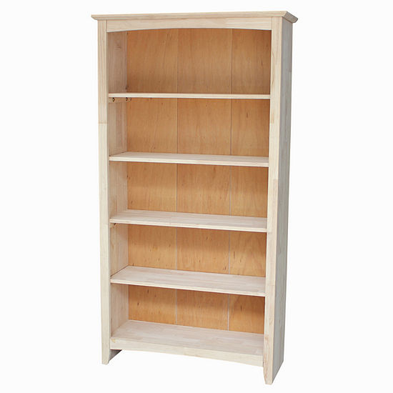 Ready To Finish Shaker 5 Shelf Bookshelf