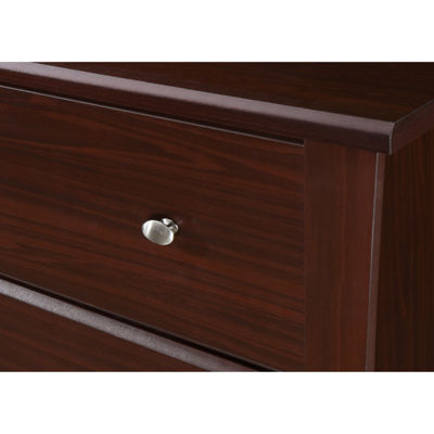 Storkcraft Crescent 3-Drawer Nursery Dresser - Espresso