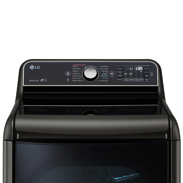 LG 9.0 cu.ft. Mega Capacity TurboSteam® Dryer with EasyLoad™ Door