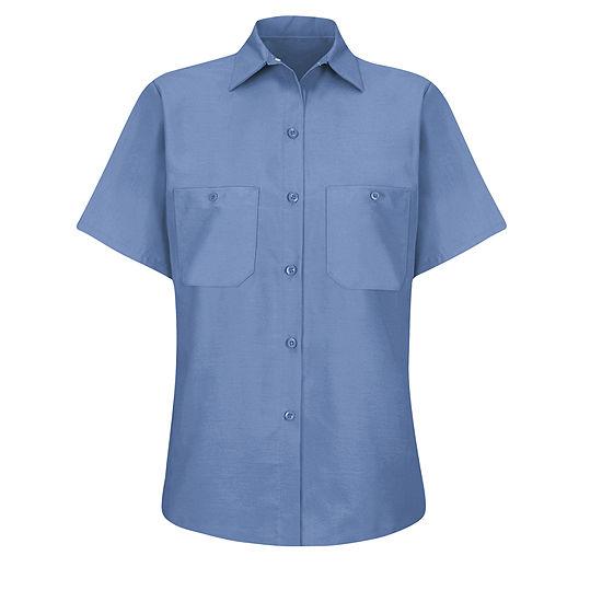 Wrangler® Womens Industrial Short-Sleeve Work Shirt
