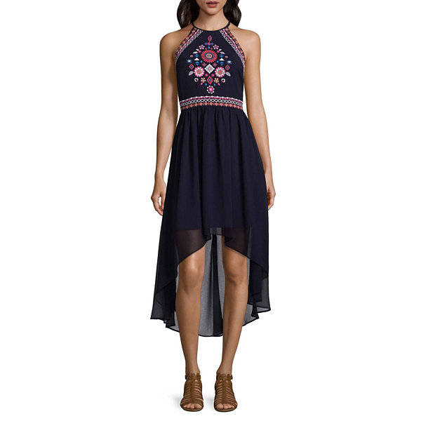 My Michelle Sleeveless Embroidered Sundress-Juniors