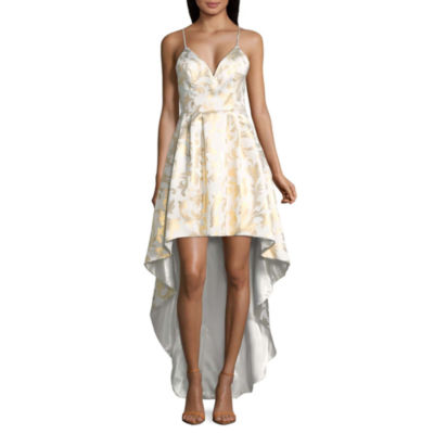 My Michelle Sleeveless Evening Gown-Juniors