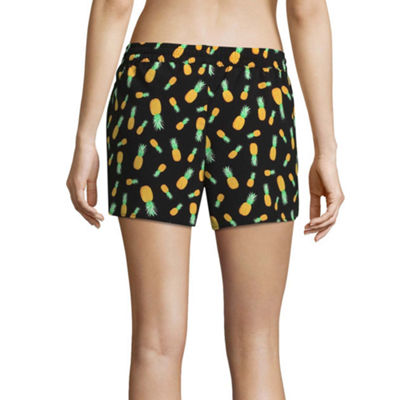 City Streets Pattern Knit Swimsuit Cover-Up Shorts-Juniors