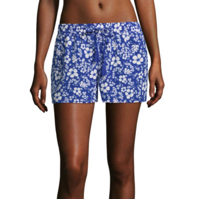 City Streets Knit Swimsuit Cover-Up Shorts-Juniors