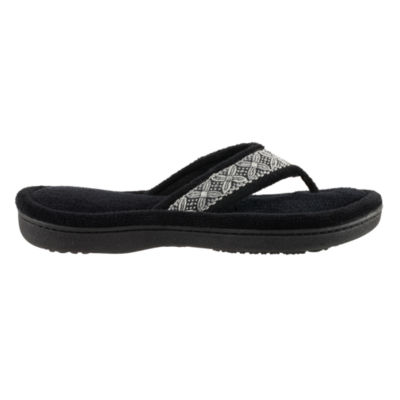 Isotoner Microterry Thong Slip-On Slippers