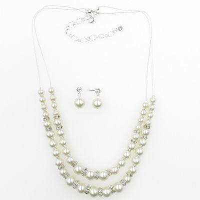 Vie Air Womens 2-pack Brass Necklace Set