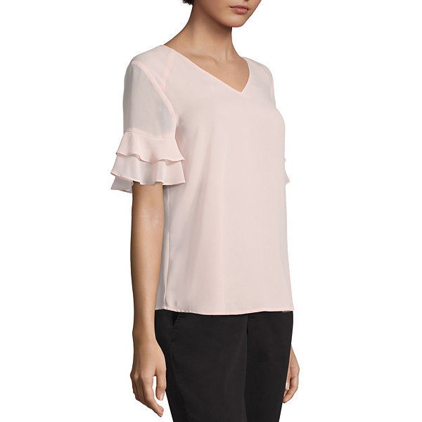 Worthington Ruffle Blouse - Tall