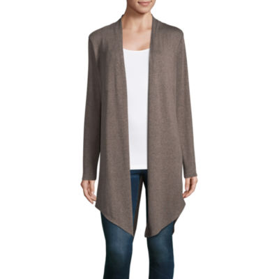 a.n.a Long Sleeve Split Back Cardigan - Tall