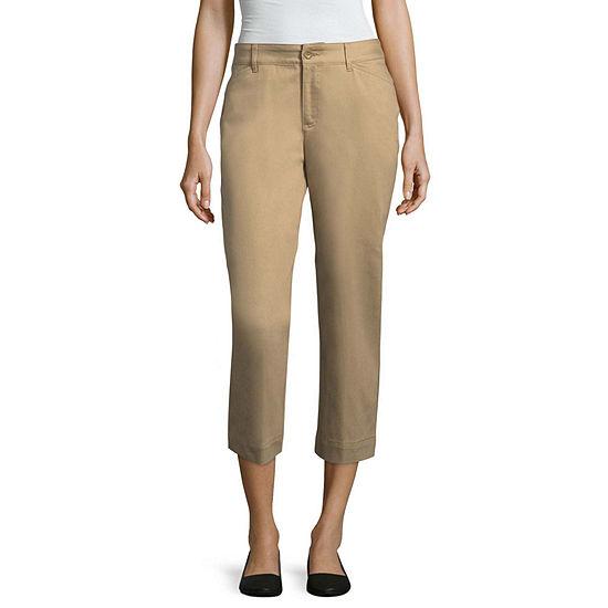 "St. John's Bay Secretly Slender Twill Capri Pant - Tall Inseam 20"""