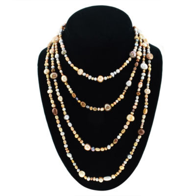 Womens 5-7MM Genuine Multi Color Cultured Freshwater Pearl Strand Necklace
