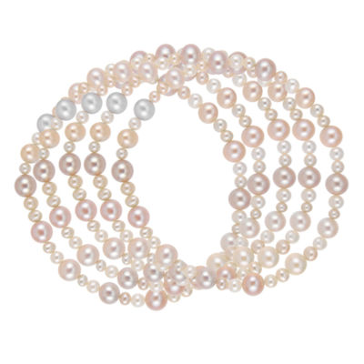 Womens Pink Stretch Bracelet