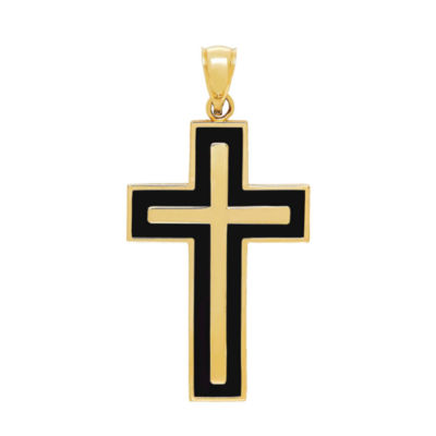 Religious Jewelry Womens 14K Gold Cross Pendant