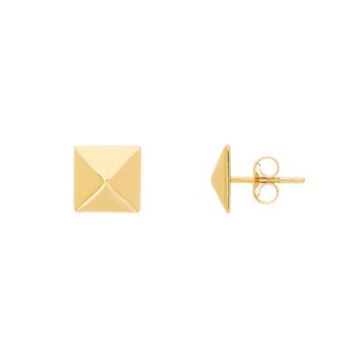 14K Gold 8.7mm Stud Earrings