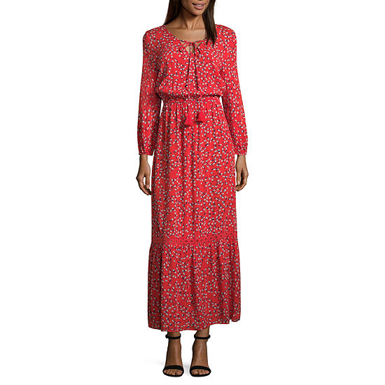 ana Boho Maxi Dress Tall JCPenney