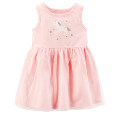 Carter's Pink Unicorn Sleeveless Fit & Flare Dress - Baby Girl NB-24M