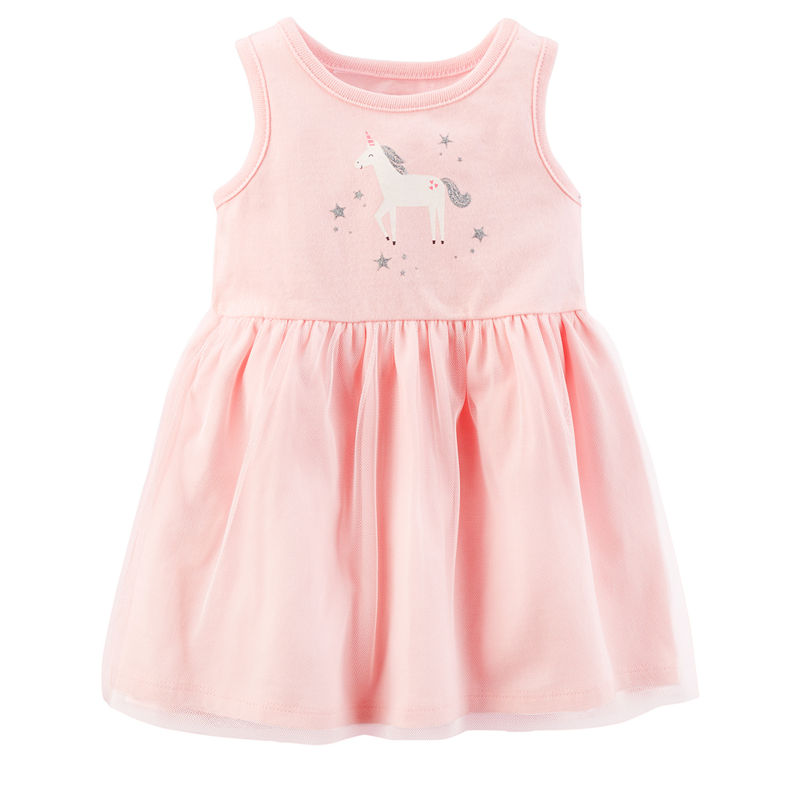 b3d910cc6 ... UPC 190796660813 product image for Carter's Sleeveless Fit & Flare Dress  - Baby Girls | upcitemdb ...