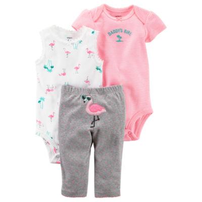 Carter's Little Baby Basics 3-pc. Pant Set Baby Girls