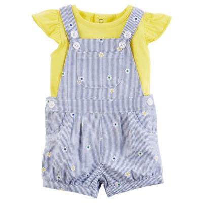 Carter's 2-pc. Shortall Set - Baby Girls