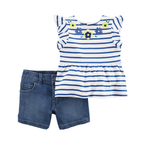 Carter's 2-pc. Short Set - Baby Girls