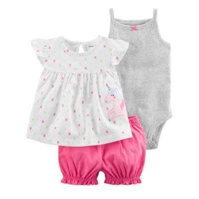 Carter's 3-pc. Short Set Baby Girls NB-24M
