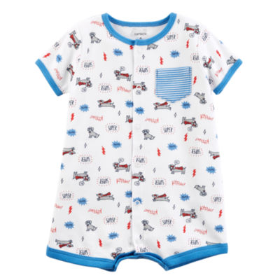 "Carter's ""Super Dog"" Short Sleeve Creeper - Baby Boy NB-24M"