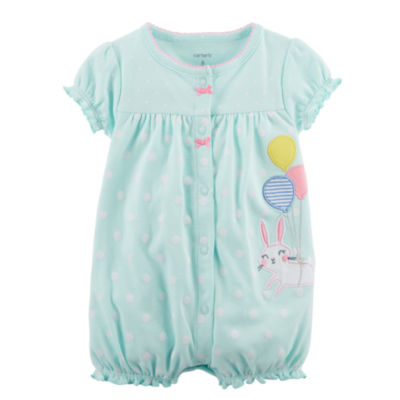 Carter's Bunny Print Short Sleeve Creeper - Baby Girls NB-24M