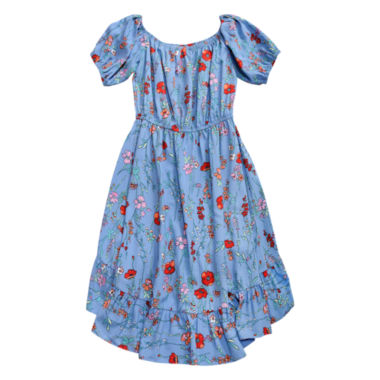 Obsess Elbow Sleeve Off Shoulder Sleeve Sundress - Big Kid Girls Plus