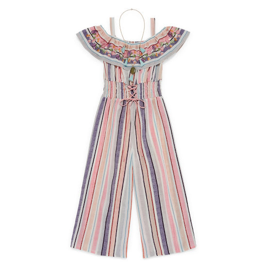 Knit Works Embroidered Sleeveless Jumpsuit - Big Kid