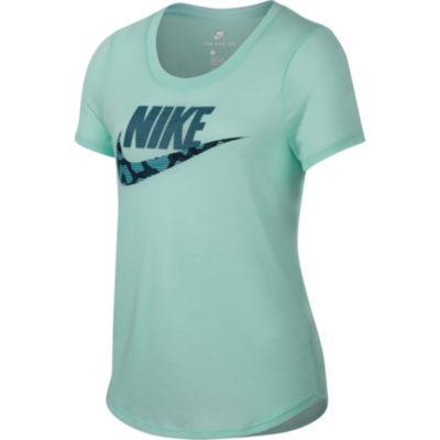 Nike Short Sleeve Scoop Neck T-Shirt-Big Kid Girls