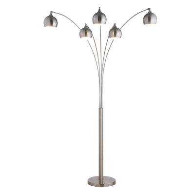 "TENBURY WELLS AMORE 86"" LED Arch Floor Lamp With Dimmer"