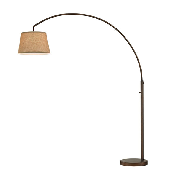 TENBURY WELLS Allegra LED Arch Floor Lamp With Dimmer