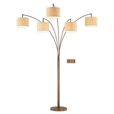"TENBURY WELLS Lucianna 83"" 5-Arch LED Floor Lamp With Dimmer"