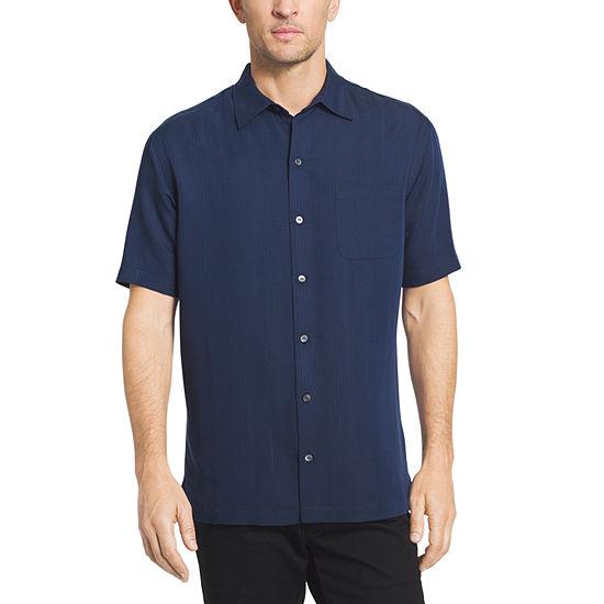 Van Heusen Mens Short Sleeve Striped Button-Down Shirt