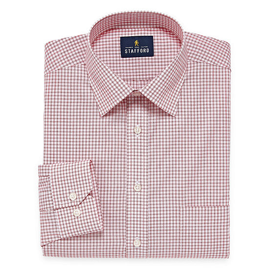 Stafford Men's Big & Tall Easy-Care Stretch Dress Shirt