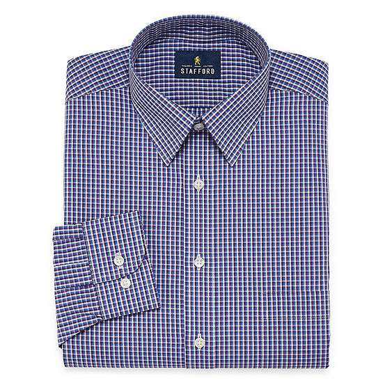 : Stafford Super Shirt Dress Shirt Big and Tall with Comfort Stretch, Stain Repel and Wrinkle Free