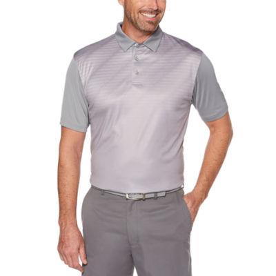 PGA TOUR Easy Care Short Sleeve Geo Linear Polo Shirt