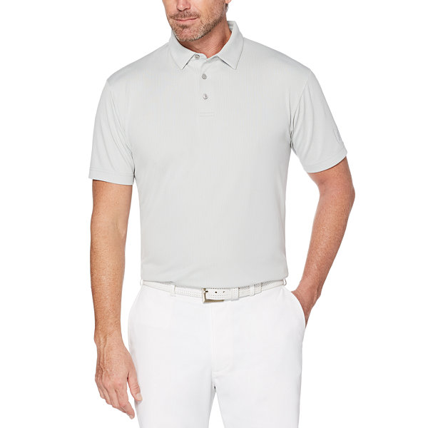 PGA TOUR Short Sleeve Jacquard Doubleknit Polo Shirt