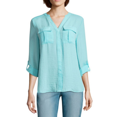 a.n.a Pleat Pocket Relaxed Top
