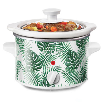 Cooks 1.5 Quart Tropical Leaves Slow Cooker